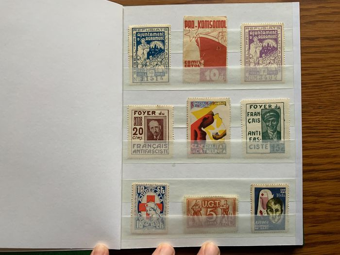 Spagna 1936/1939 - Batch of 300 stamps of the Spanish Civil War