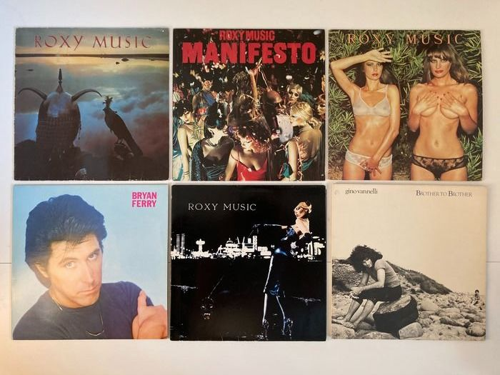 Various Artists/Bands in Rock - Diverse artiesten - Roxy Music, Brian Ferry, Gino Vanelli, Pat Benator and more. - Diverse titels - LP's - 1973/1985