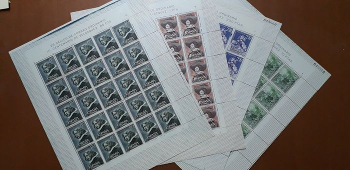 Spagna 1961/1961 - 3rd Centennial of the death of Velázquez complete set - Edifil 1340/1343