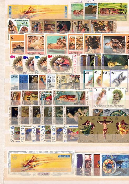 Aree inglesi, arte prevalentemente dipinti - Collection of Art stamps, mainly paintings - Yvert