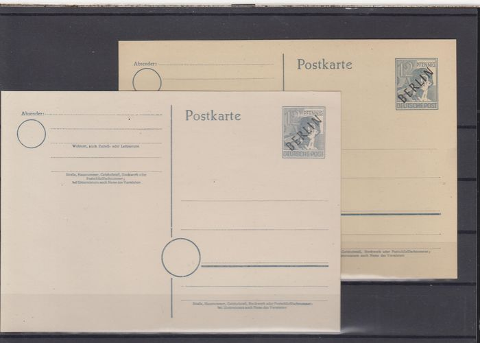 Berlino 1948/1960 - Collection of early postal stationery