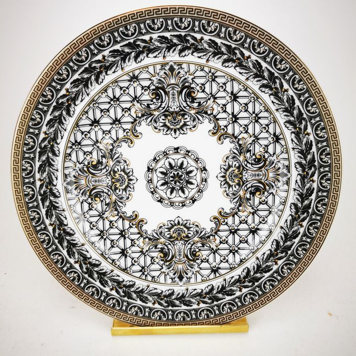 """25 Years Versace - """"Marqueterie"""" - Rosenthal - Piatto - Porcellana"""