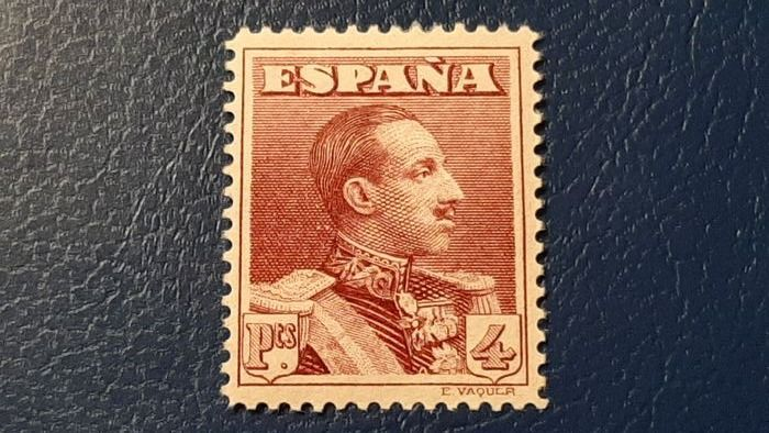 Spagna 1922 - Alfonso XIII Vaquer type. Key value of 4 pts. Well centred. - Edifil 322 N