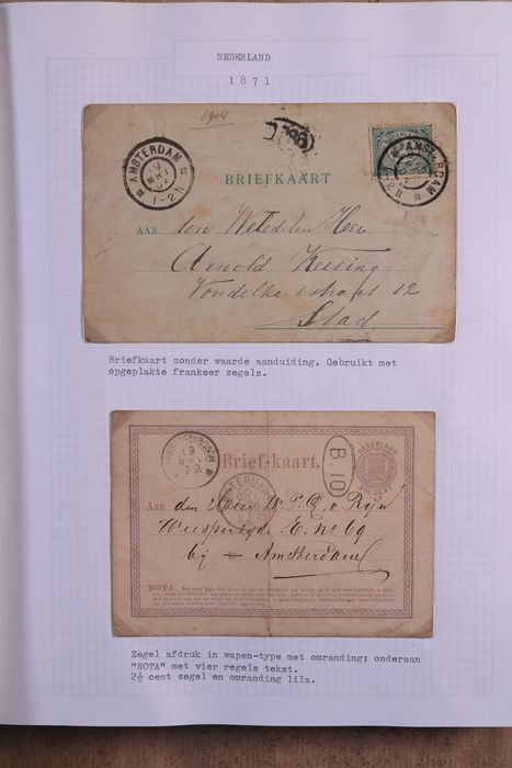 Paesi Bassi 1872/1999 - Collection of postal order pieces in an Importa Victoria collection binding