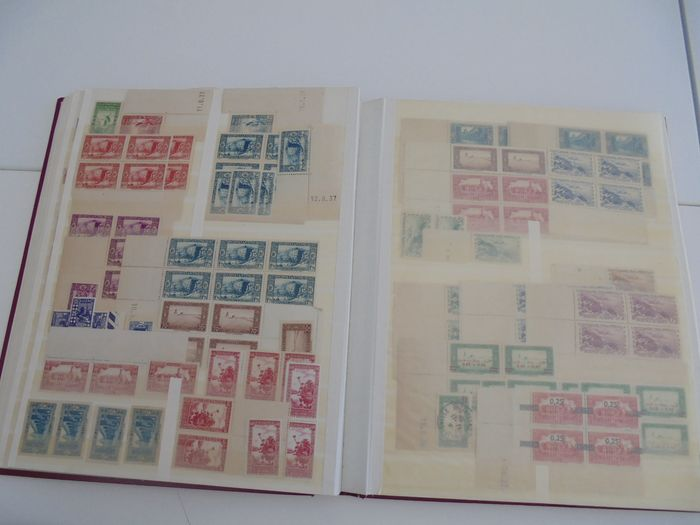 Colonia francese 1930/1954 - Stock of French colonies stamps and blocks, dated corners, pre- and post- independence. - Yvert