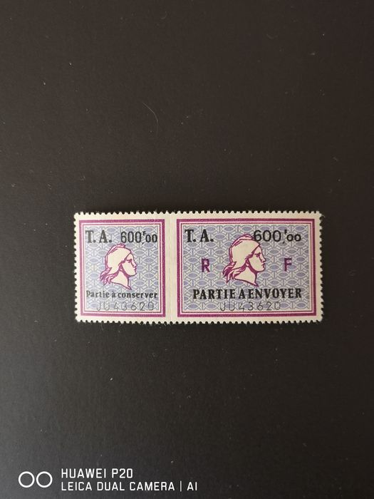 Francia - Rare excise stamp fine, original gum without hinges, with watermark. Value: €550. - Yvert 14