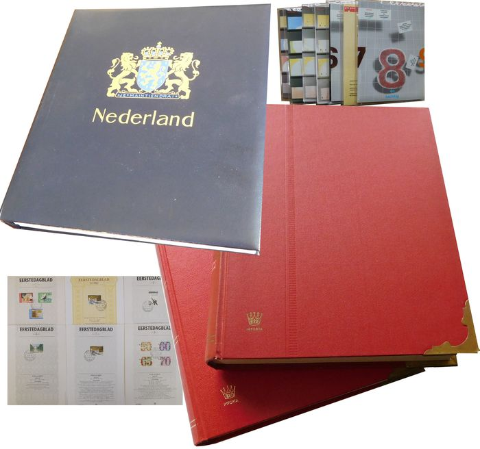Paesi Bassi - Batch in album and stockbooks, year sets, first day sheets