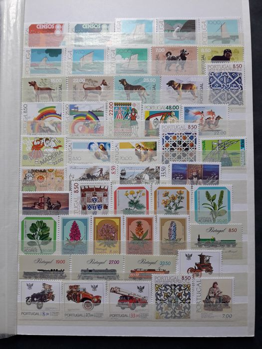 Portogallo 1981/1990 - Stamp collection of 10 years - Mundifil Nº 1502 a 1977