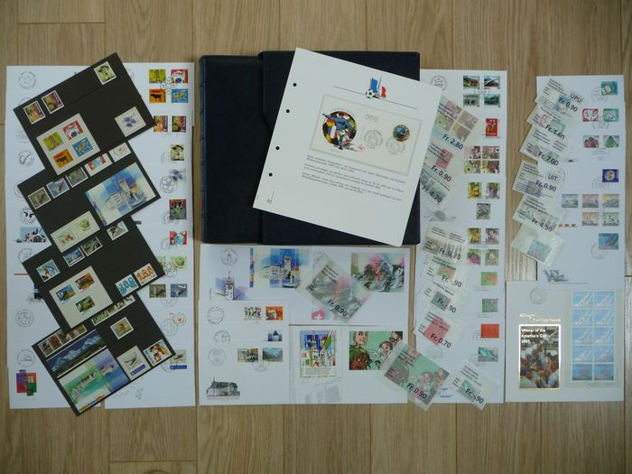 Svizzera - Austria 1998/2006 - First day covers (FDCs x 72) and stamps + World 98