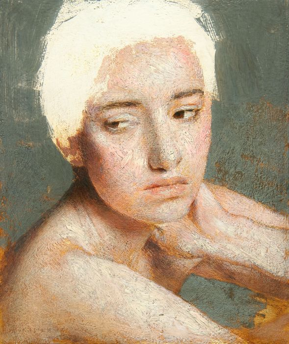 Michal Lukasiewicz - Portrait Of Young Woman