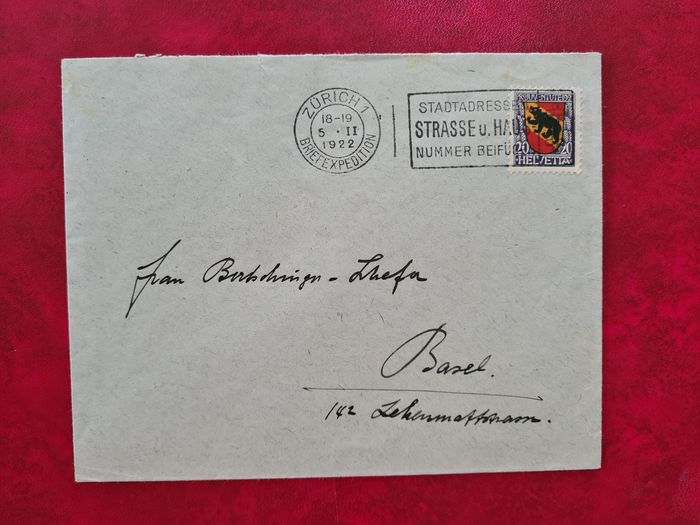 Svizzera - Elaborate collection of 305 used letters and postcards