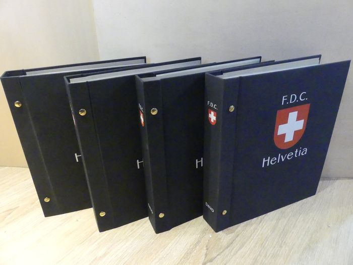 Svizzera 2002/2018 - Collection of FDCs in four DAVO albums