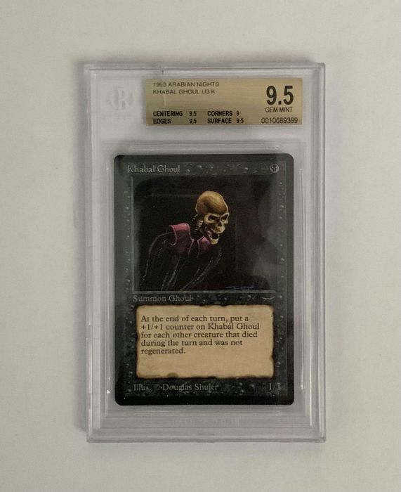 Wizards of The Coast - Magic: The Gathering - Graded Card Khabal Ghoul - Arabian Nights - BGS 9.5 - Reserved List - 1993