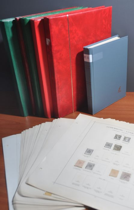 Lussemburgo e Liechtenstein - Batch in several stock books, on album pages and more