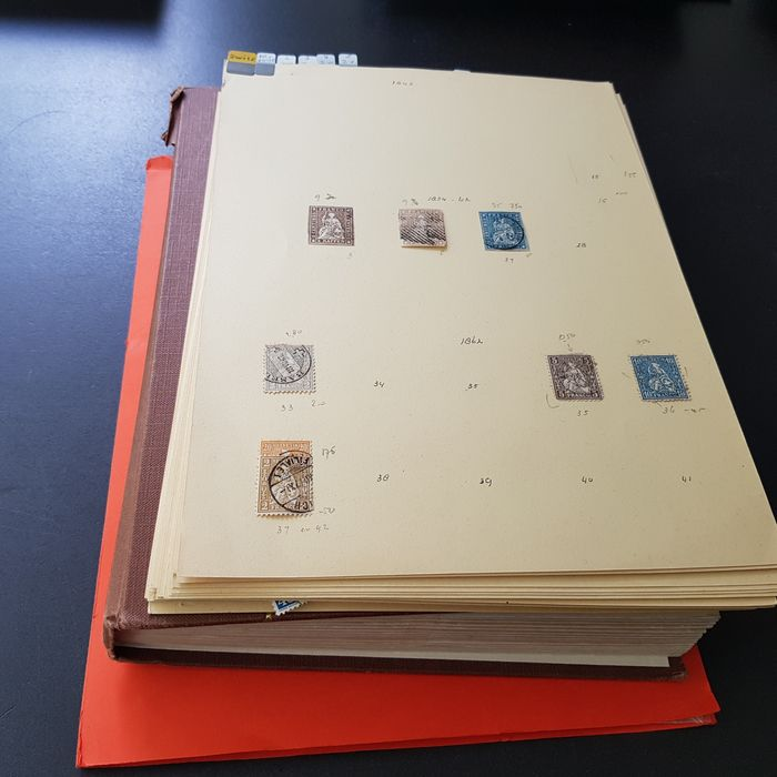 Svizzera 1850/1985 - Large batch of duplicates in stock book and on sheets