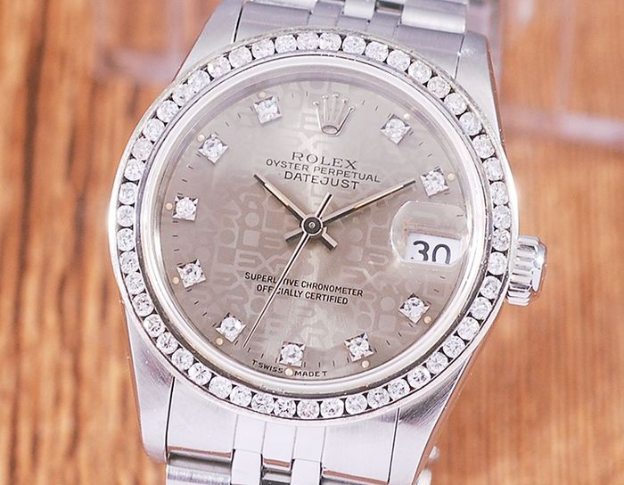 Rolex - Oyster Perpetual Date Just - 68274G - Femme - 1990-1999
