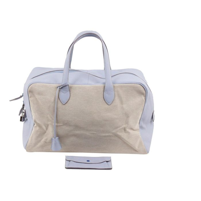 Other brand - Bicolor Canvas and Leather Carry On Bag Weekender - Bagage