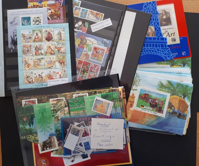 Francia - colonie (questioni generali) - MNH stamps and blocks from French colonies + €107 valid postage France, many topical stamps
