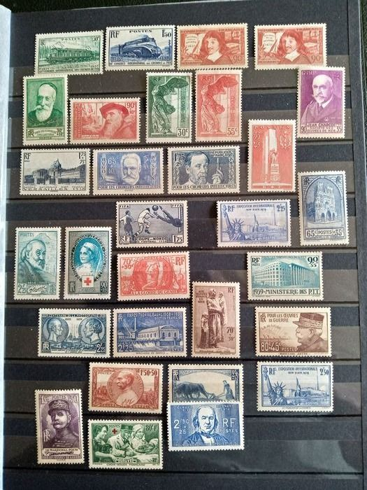 Francia 1937/1940 - Lot of mint French stamps, MNH**, 1937-1940. - Yvert