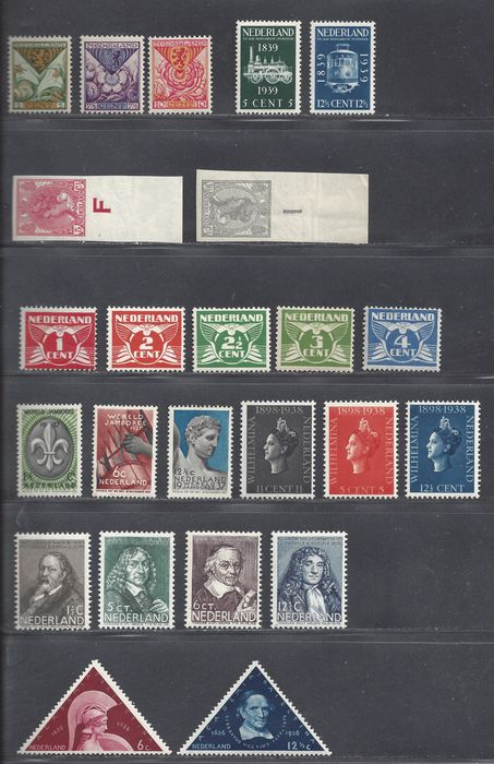 Paesi Bassi 1923/1936 - Eight complete issues - NVPH 82/83, 144/148, 166/168, 287/288, 293/295, 296/299, 310/312, 325/326