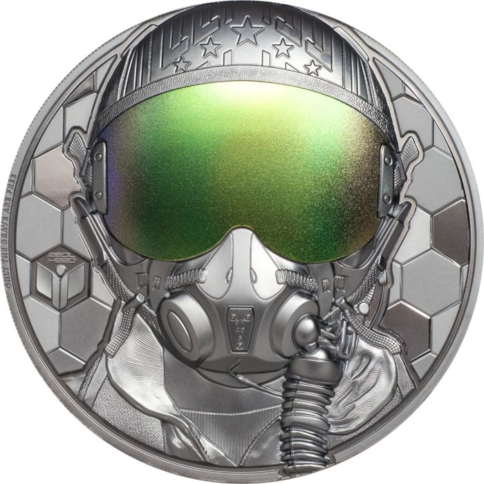 Cook-Inseln. 20 Dollars 2020 Fighter Pilot – Real Heroes - 3 Oz