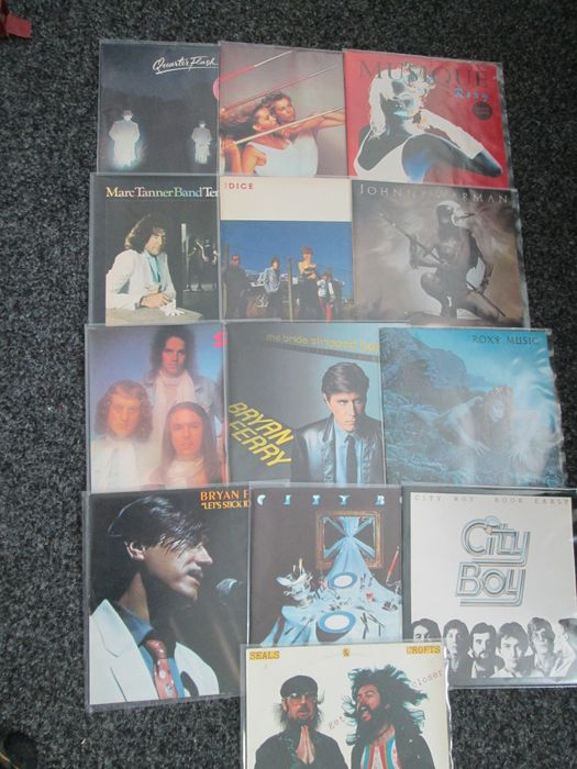Various Artists/Bands in Classic Rock (before 1990), Roxy Music, Bryan Ferry, Slade, City Boy and more... - Diverse artiesten - 13 Great Pop Rock Albums - Diverse titels - LP's - 1973/1982