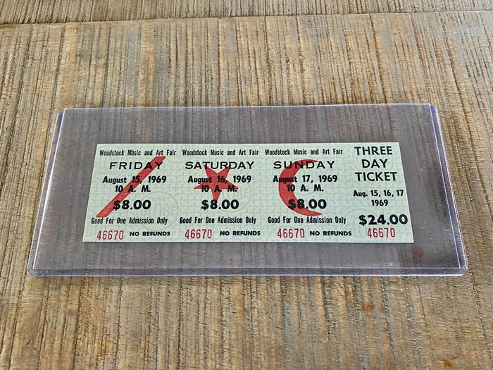 Woodstock & Related - 3 days (Unused – Certificate of authenticity) - Official (concert) ticket - 1969/1969