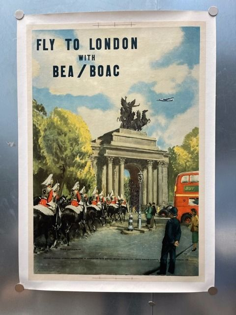 Anonymous - Fly to London by Bea/Boac - 1950