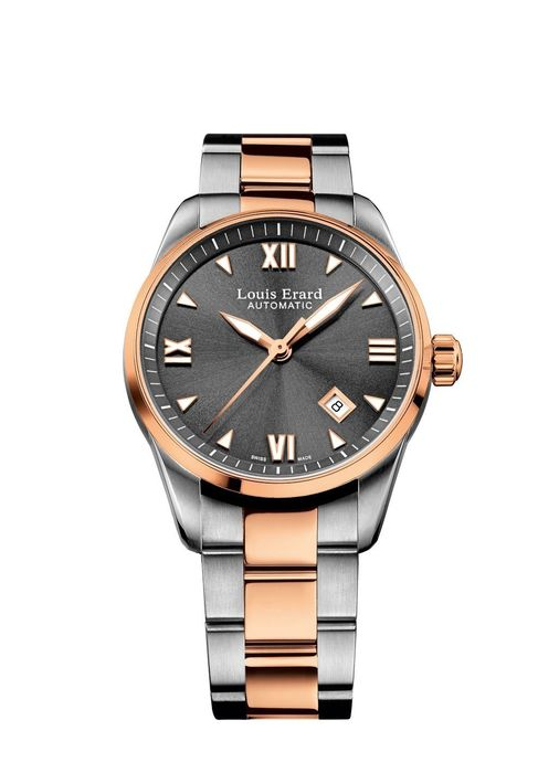 Louis Erard - Heritage Date IP Two Tone Rose Gold Stainless Steel Strap - 69103AB23.BMA33 - Dames - 2011-heden