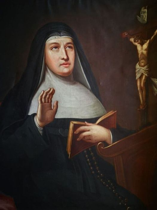 Spanish Old Master XVII - Saint Teresa Of Avila Receiving A Vision Of The Crucified Christ