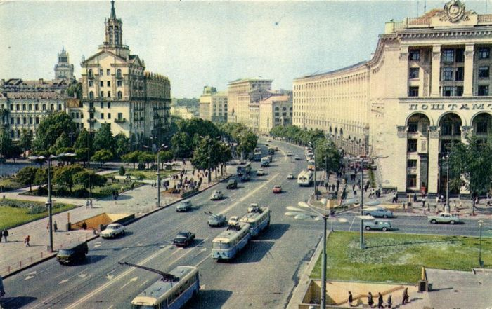 Russia - Soviet Union / CCCP - From the time of the cold war - including Leningrad, Moscow, cars in the - Postcards (Collection of 92) - 1950-1970