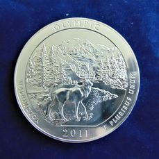 United States. 25 Cent (Quarter) 2011 'America the Beautiful' 5 oz silver
