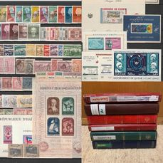 World 1900/2010 - estate lot in 6 albums with better blocks collection South Africa,Ireland,Asia,