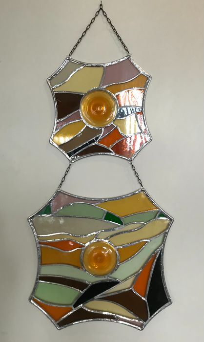 Zegers - Hanger, Raam (1) - Abstract Expressionisme - Glas, Glas (glas-in-lood), Koper, Tin