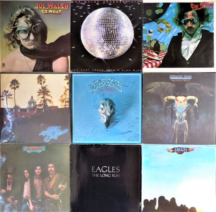Eagles & Related - Collection of 9 great albums - Diverse titels - LP's - 1972/1979