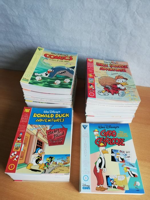 Donald Duck, Uncle Scrooge 1 t/m 51, 1 tm 25, 1 t/m 56, 1 t/m 6, 1-2, 1 - Carl Barks Library in Color - Complete - Softcover - Eerste druk - (1992/1998)