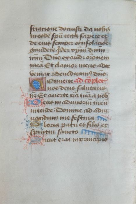 Manuscript - leaf from a book of hours ca. - 1450