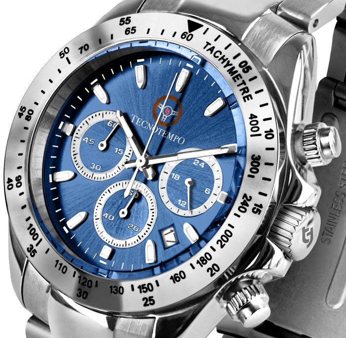 """Tecnotempo - """"NO RESERVE PRICE"""" Chronograph Special Limited Edition Sports Steering - TT.100.VB (Blue) - Heren - 2021"""