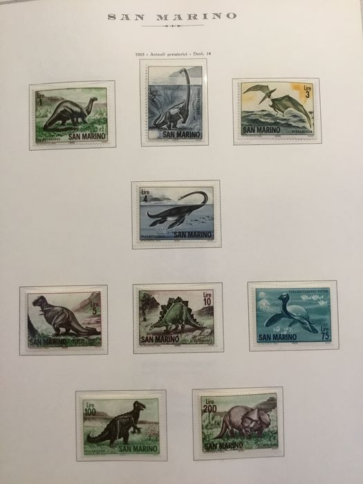 San Marino 1965/2000 - Nice collection of mint and intact stamps. Virtually complete on Marini sheets and album - Sassone