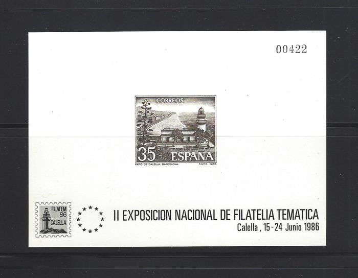 Spanje 1986 - 'Calella' official deluxe proof