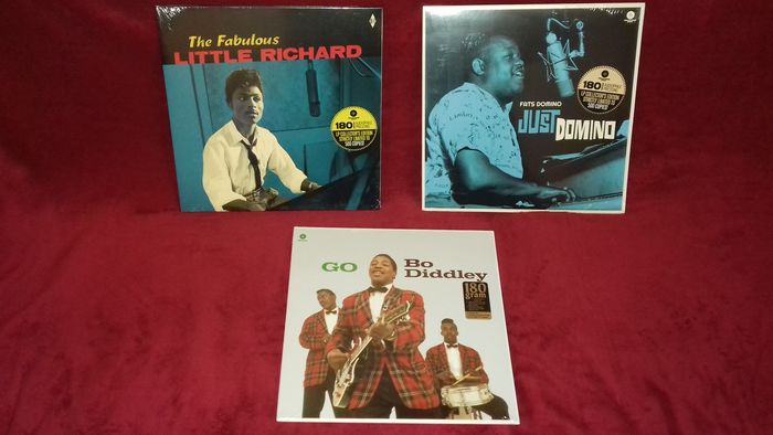Bo Diddley, Fats Domino, Little Richard - 3 Amazing Rock 'n' Roll Albums (2 are Exclusive 500 Copies Limited Edition !!!) - LP - 2019/2012