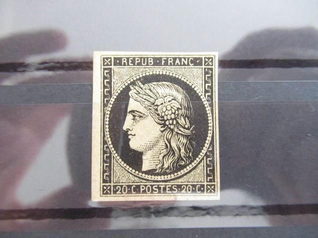 Frankreich 1849 - Ceres 20 cts black on yellow, mint - Yvert N°3