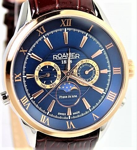 Roamer - Swiss Made Superior Moon Phase - 508821 49 43 05 New And Boxed - Uomo - 2011-presente