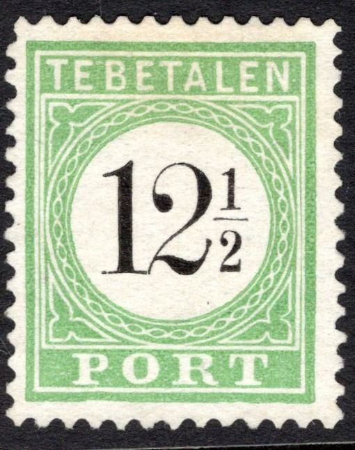 Curaçao 1889 - Postage due stamp, numeral in black, type II - NVPH P4