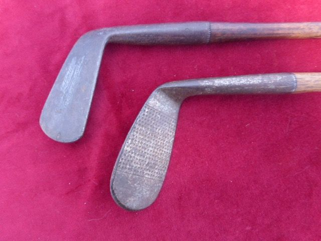 H.L. Curtis Bournemouth, Aughterlonie D&W - Golfclubs putter met hickory shaft (2)