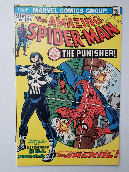 The Amazing Spider-man 129 - First appearance of The Punisher. High grade. - Eerste druk - (1973)