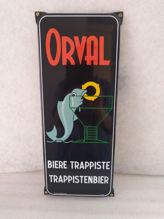 Emaillerie Belge - Abbaye d'Orval - Reclame plaat (1) - Emaille