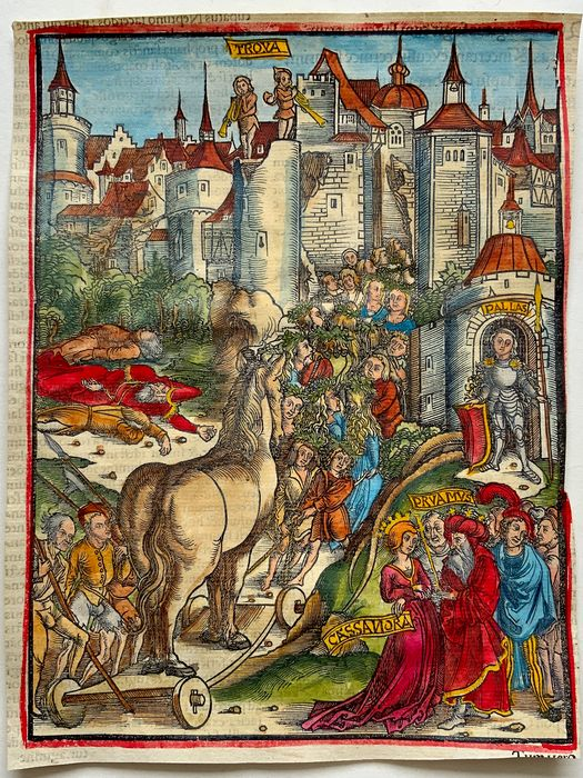 Master of Gruninger Workshop - Virgil Aeneid: The Fall of Troy and the Trojan Horse  - 1502 - 1502