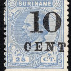 Suriname 1898 - Aid issue type I - NVPH 32aD
