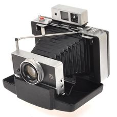 Polaroid Land Camera with 114/3.8 Tominon lens and Zeiss Rangefinder, nice and rare camera